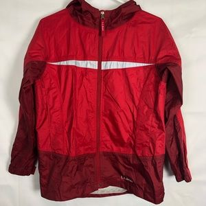 L.L. Bean Red Youth Boys Large Raincoat Jacket